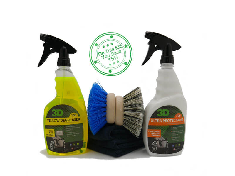 tire clean dressing kit friction auto concepts. Black Bedroom Furniture Sets. Home Design Ideas